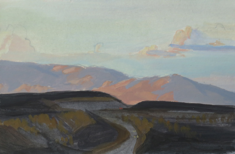 Two Mile Hill at Dusk. Acrylic. 2017